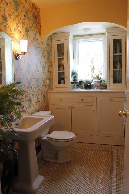 Bathroom Redo With Wallpaper Eclectic Bathroom Chicago