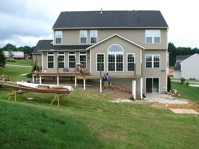 Deck With Walkout Basement - Traditional - other metro ... on Walkout Basement Patio Designs id=24869