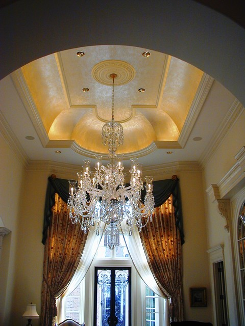 Plaster Ceiling Pattern Traditional Living Room