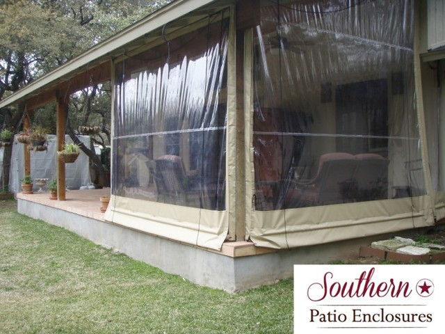 residential Clear Vinyl Patio Enclosure curtains by ... on Backyard Patio Enclosure Ideas  id=34639