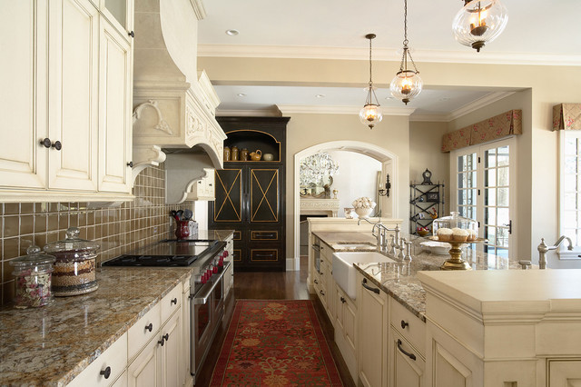 Elegantly Detailed Kitchen Work Area Traditional