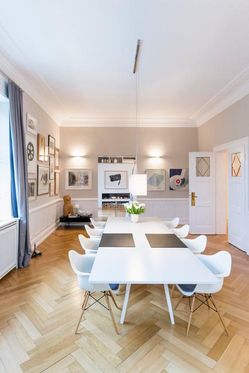 RoyaumeStyleDeco, décoration gris et blanc parquet séjour, salon