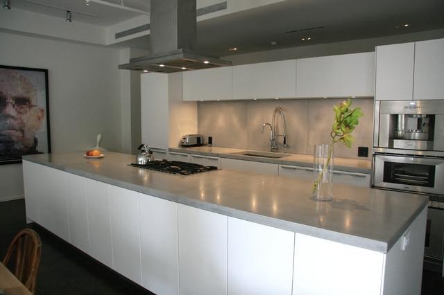 Concrete kitchen countertops - Modern - Kitchen ... on Modern Kitchen Counter  id=13189