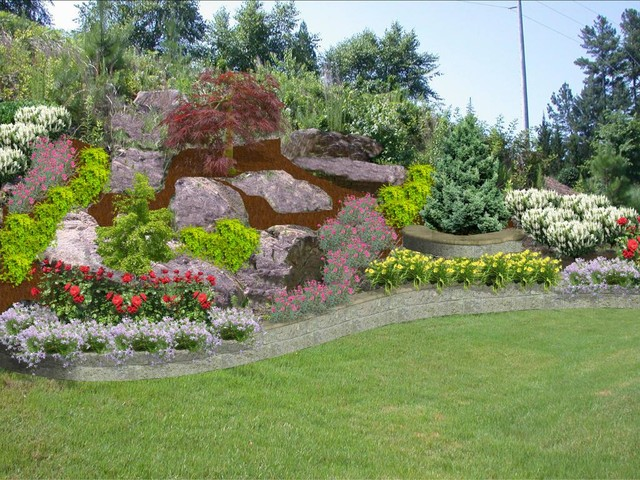 Backyard Hillside on Backyard Hill Landscaping Ideas  id=20422