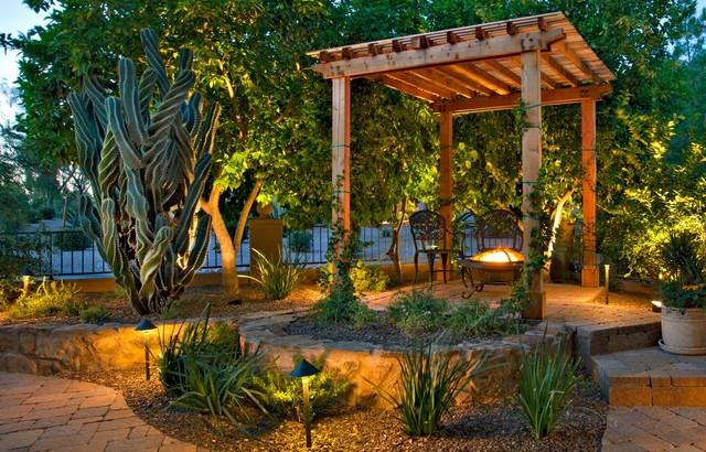 Mediterranean Courtyard - Mediterranean - Patio - phoenix ... on Small Mediterranean Patio Ideas id=72655