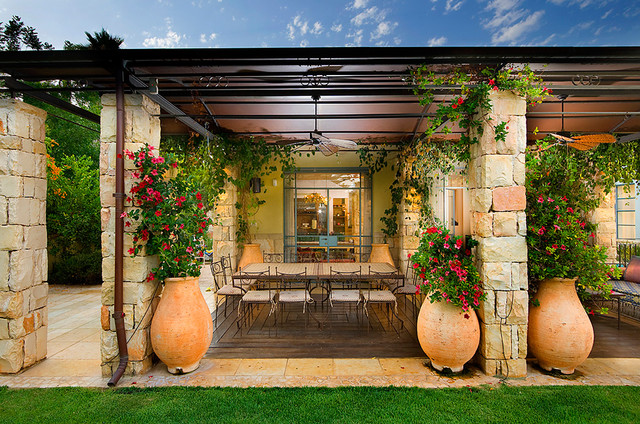 patio - Mediterranean - Patio - other metro - by Elad Gonen on Houzz Backyard Patios  id=88340