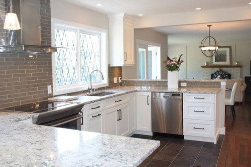 White Ice Granite White Cabinets Backsplash Ideas on Backsplash Ideas For White Cabinets And Granite Countertops  id=54385