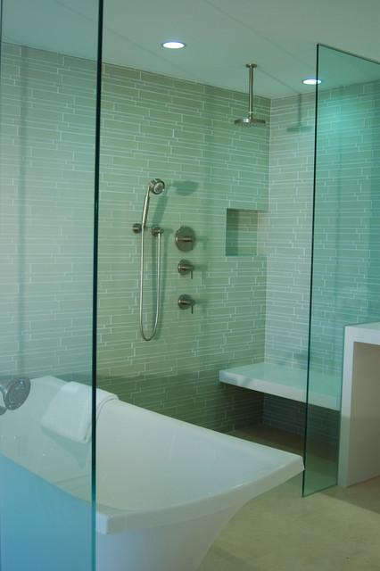 Island Stone Linear Glass Bathroom 2 Modern Tile Other Metro By Island Stone