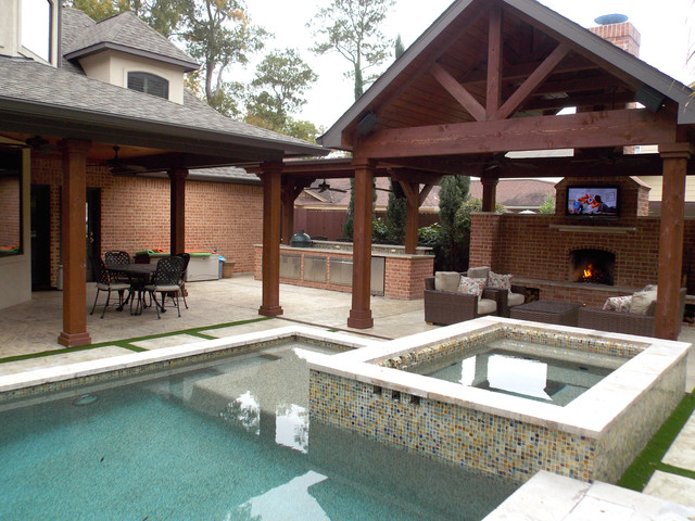 Outdoor Living Spaces - Traditional - Pool - houston - by ... on Houzz Outdoor Living Spaces id=25817