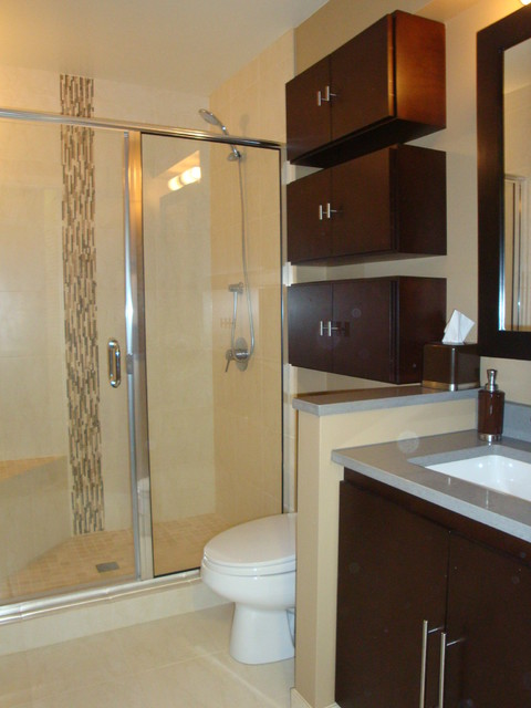 Lincoln Park Townhouse Master Bath Contemporary