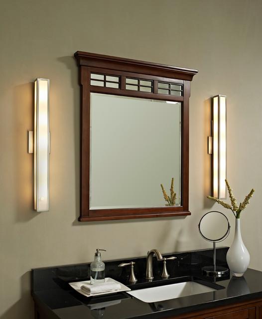 Greta Wall Sconce - Contemporary - Bathroom Vanity ... on Bathroom Wall Sconce Lighting id=22702