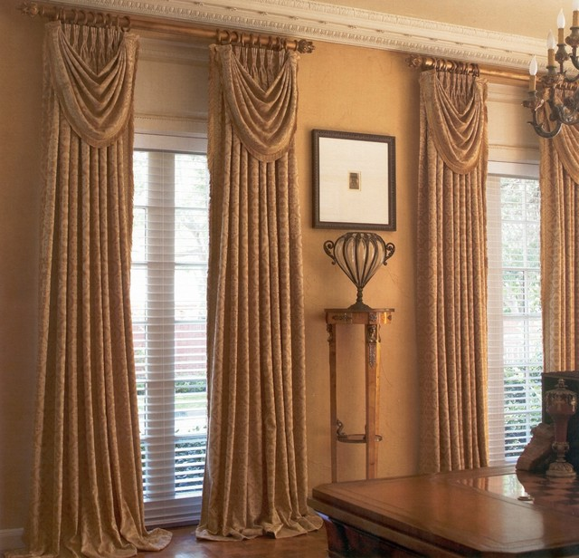 Drapery Projects & Ideas - Traditional - Curtains ... on Draping Curtains Ideas  id=95872
