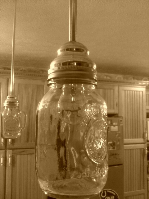 Mason Jar Light Pendant