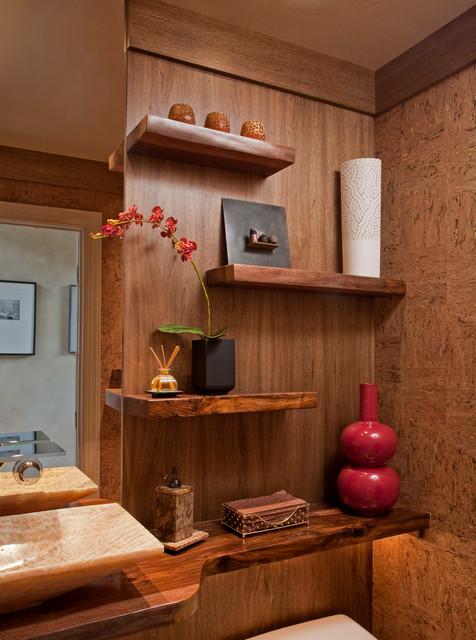 Zen Spa Powder Room Remodel Media Pa Contemporary