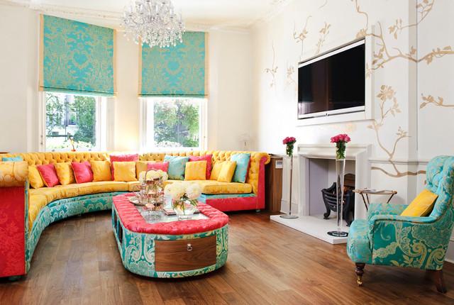 60 Montagu Square transitional living room