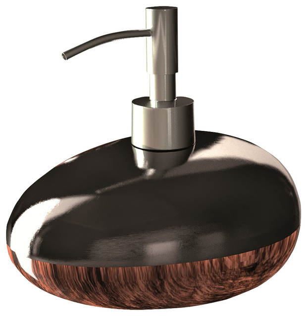 Glamour Bathroom Accessory set Brown Black - Modern ...