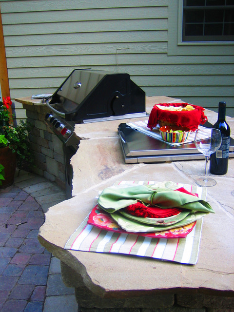 Street residence grill station - Rustic - Patio ... on Patio Grill Station id=40333