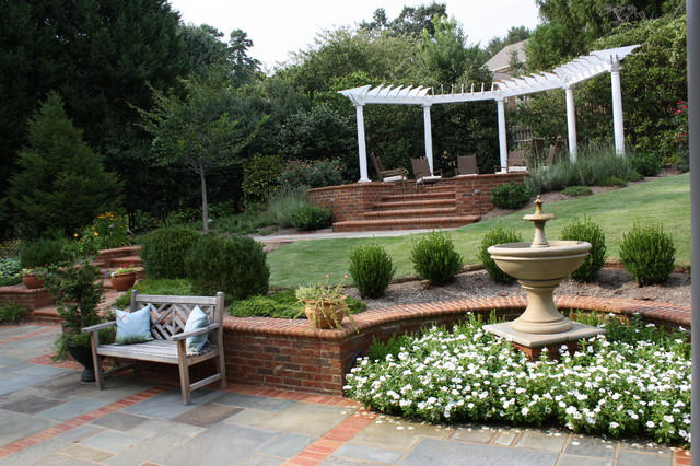 Backyard Terraces - Traditional - Landscape - other metro ... on Terraced Yard Landscape Ideas id=53801