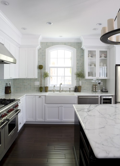 Super White kitchen cabinets
