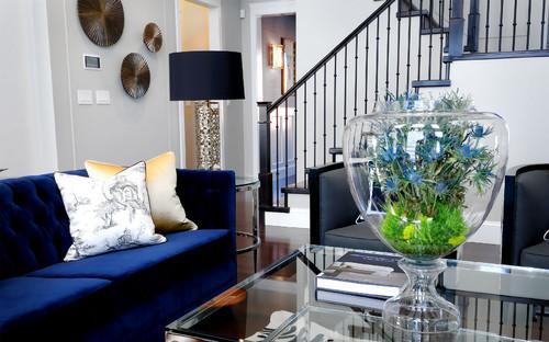 Contemporary Living Room By Saskatoon Interior Designers U0026 Decorators Atmosphere  Interior Design Inc.
