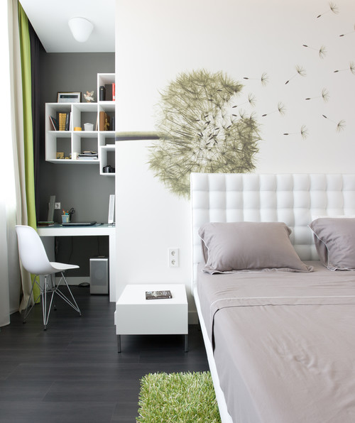 RoyaumeStyleDeco Chambre; gris er blanc