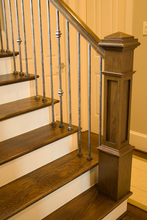 The New Craftsman Style Staircase | New Handrail For Stairs | Traditional | Wall Both Side | Contemporary | Mission Style | Wrought Iron