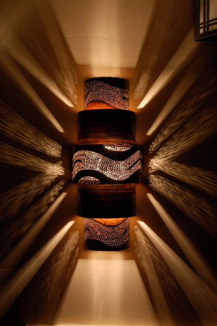 Eclectic Copper Wall Sconce - Contemporary - Wall Sconces ... on Decorative Wall Sconces Non Lighting id=91664