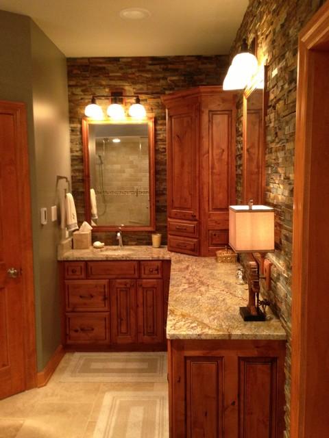 rustic elegant master bath on rustic bathroom designs photos id=54924