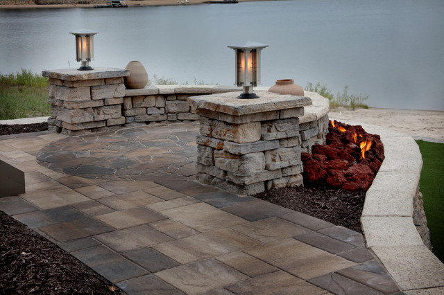 Lakefront Property - Traditional - Patio - omaha - by ... on Lakefront Patio Ideas id=87984
