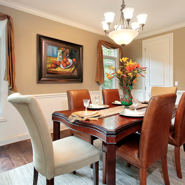 Oil Paintings For Dining Rooms Traditional Dining Room