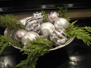 glimmering silver christmas balls for your tree