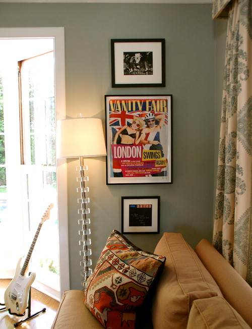 Modern Country Style Case Study Farrow And Ball Green Blue Paint. Living  Room In Neutral Part 54
