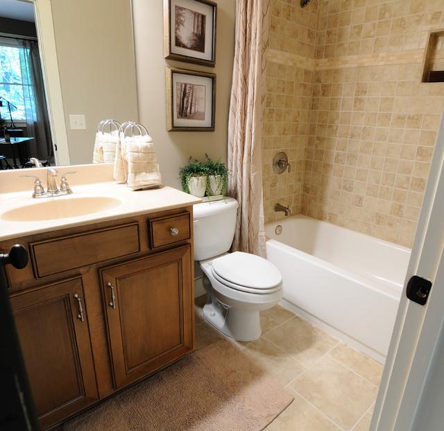Big Canoe Model Homes - Contemporary - Bathroom - atlanta ... on Model Toilet Design  id=26342