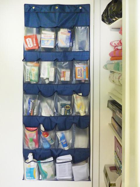 Shoe hanger as medicine cabinet contemporary closet