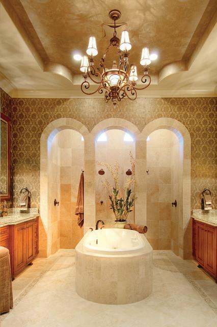 Sater Design Collections 6959 Valdivia Home Plan Mediterranean Bathroom By Sater Design