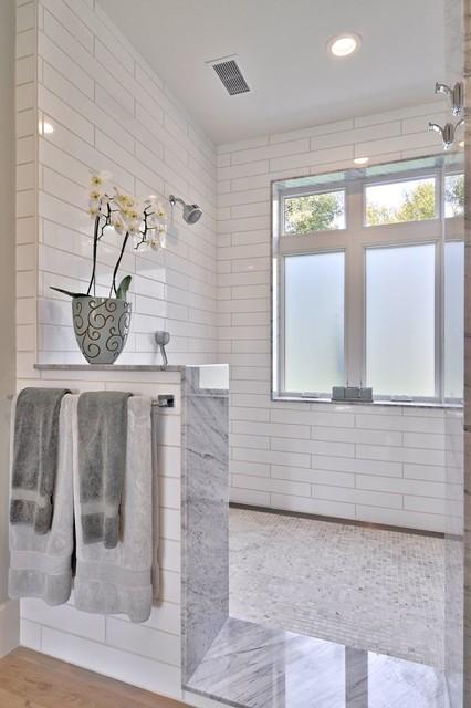 Modern Farmhouse - Farmhouse - Bathroom - austin - by ... on Modern Farmhouse Shower  id=68687