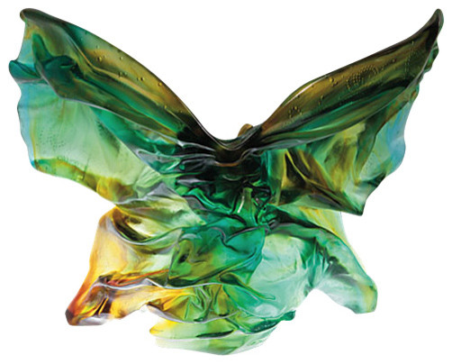 Daum Crystal Hanae Mori Hanae Mori Butterfly Soliflore 05293 transitional-artwork