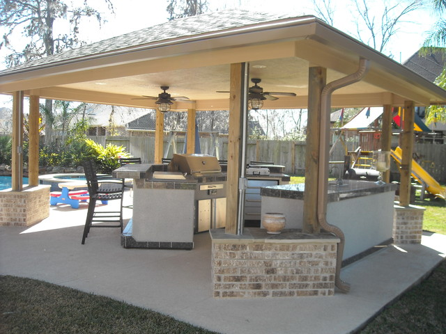 Backyard Projects - Traditional - Pool - houston - by ... on Backyard Renovation Companies id=49877