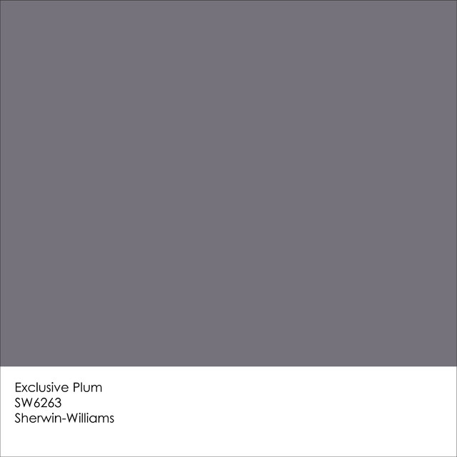 Exclusive plum is the new black for Sherwin-Williams