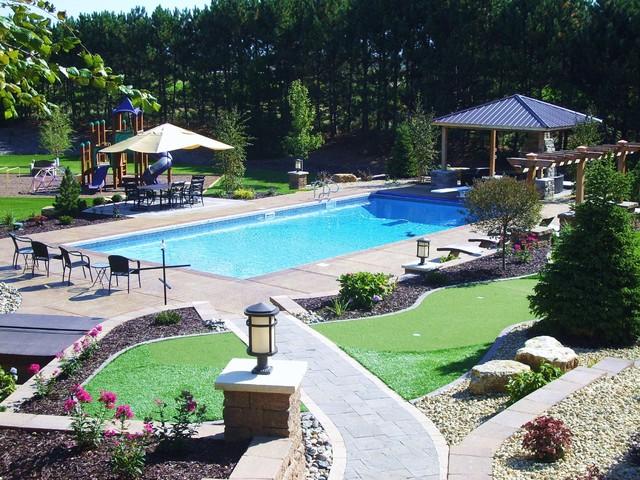 Luxury Backyard - Modern - Landscape - minneapolis - by ... on Luxury Backyard Design id=71202