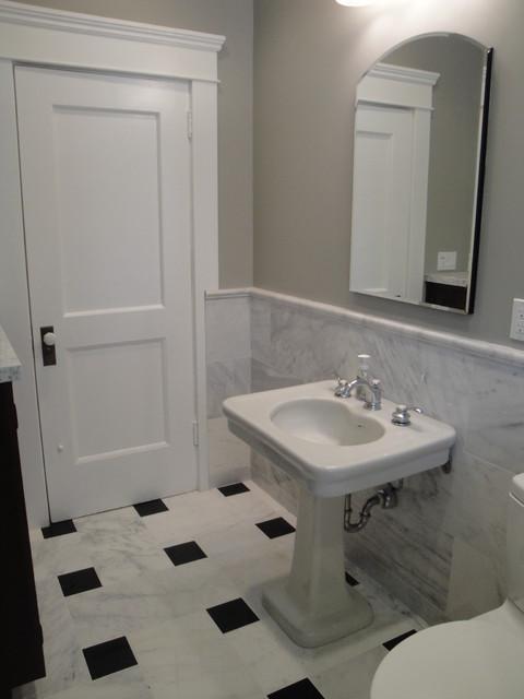 Greek Revival Styled Bathrooms In Long Beach