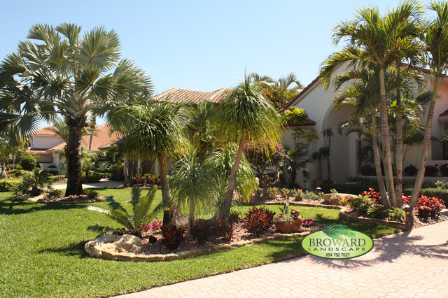 Front Yard Landscape - Tropical - Landscape - miami - by ... on Tropical Landscaping Ideas For Small Yards id=12049