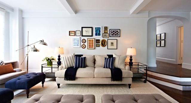 55 Central Park West transitional-living-room