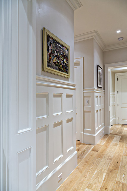Coastal Wainscoting Hallway Detail Traditional Hall