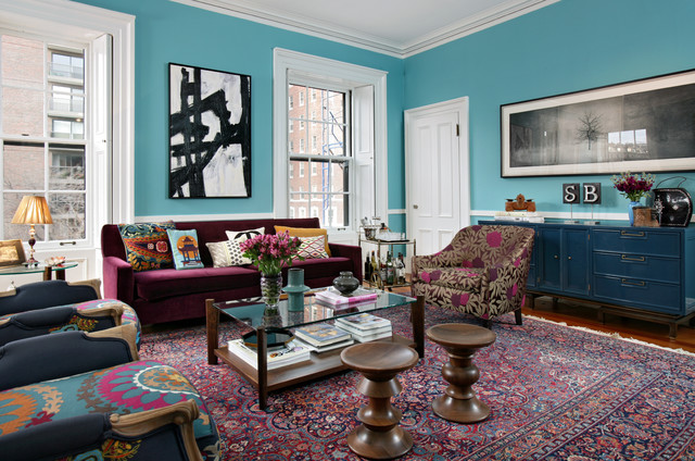 New York Townhouse Renovation eclectic living room