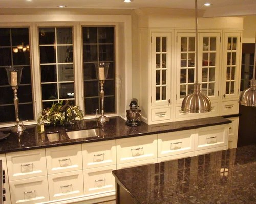 Dark Brown Granite | Houzz on Black Granite Countertops With Brown Cabinets  id=89296