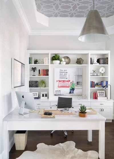 Transitional Home Office by Krista + Home