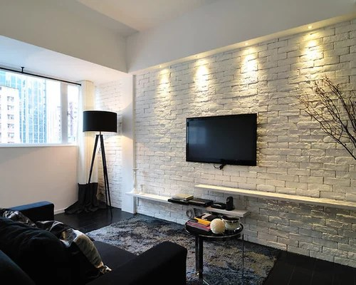White Brick Wall Home Design Ideas Pictures Remodel And