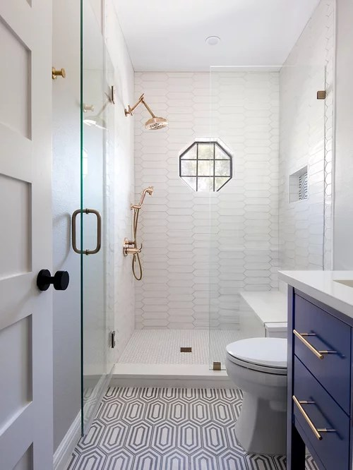 Houzz | 50+ Best Small Bathroom Pictures - Small Bathroom ... on Nice Bathroom Designs For Small Spaces  id=90436