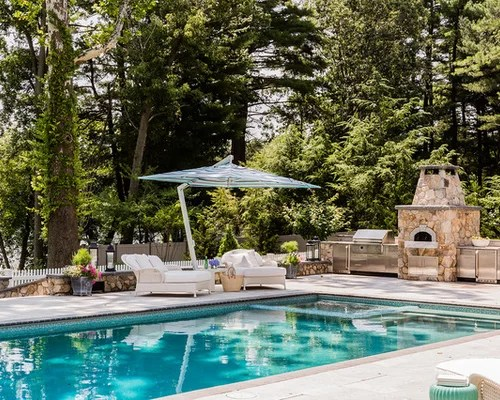 Pools And Outdoor Kitchens | Houzz on Outdoor Kitchen By Pool id=37812